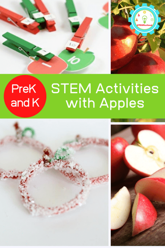 Try these fun apple STEM activities with the kiddos in the classroom or home! These apple activities for kindergarten and preschool will bring STEM to life!