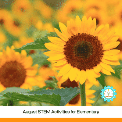 August STEAM Activities for Elementary Students