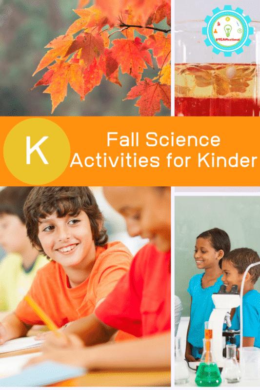kindergarten science activities for fall