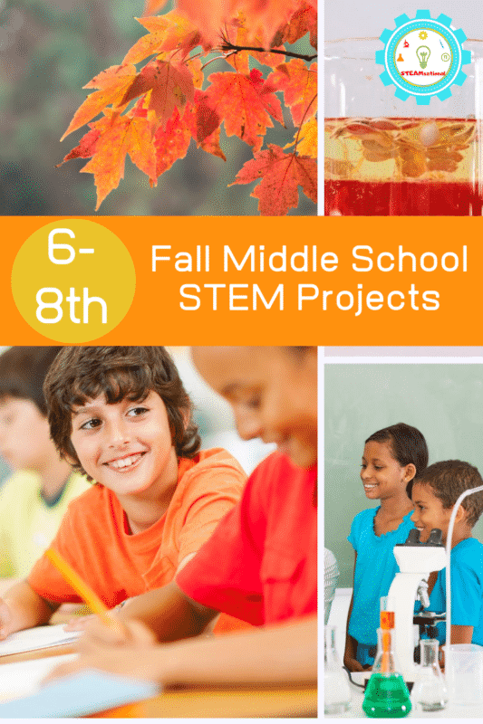 middle school stem projects fall