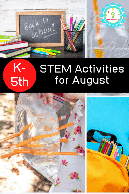 Make the transition to learning fun with these hands-on August STEM activities. These August STEM challenges are perfect for the elementary classroom!
