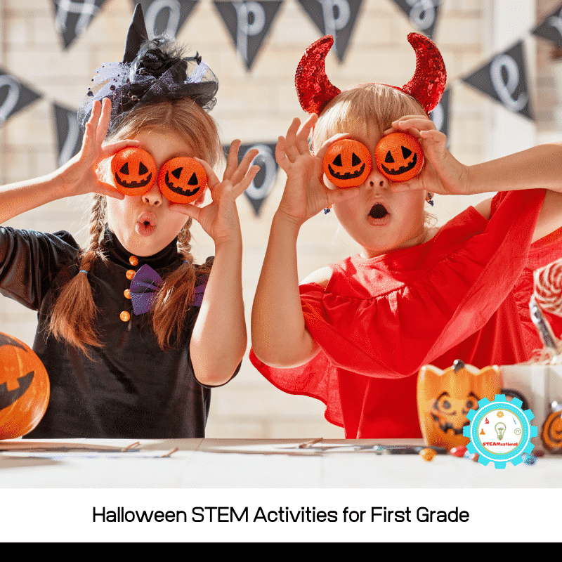 Halloween STEM activities for 1st grade are a fun way for 1st graders to explore science, technology, engineering, and math during Halloween!