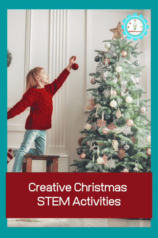 If you really love Christmas, you'll love these amazing Christmas STEM challenge ideas and Christmas STEM activities for kids of all ages.