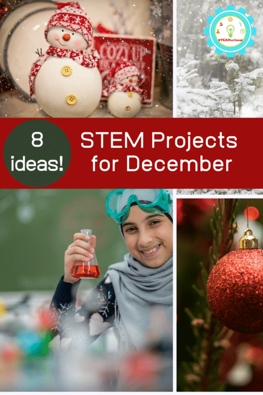 December is s a super fun time to do festive STEM activities with kids. These STEM activities for December fit the bill perfectly!