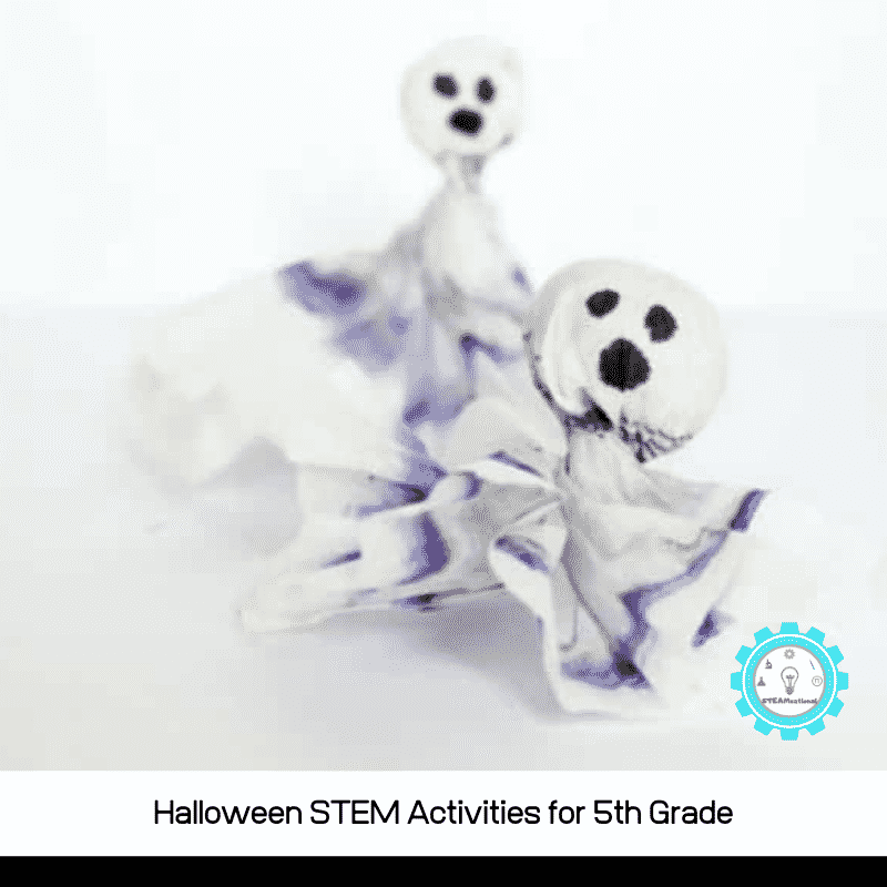 Halloween STEM activities for 5th grade are a fun way for 5th graders to explore science, technology, engineering, and math during Halloween!