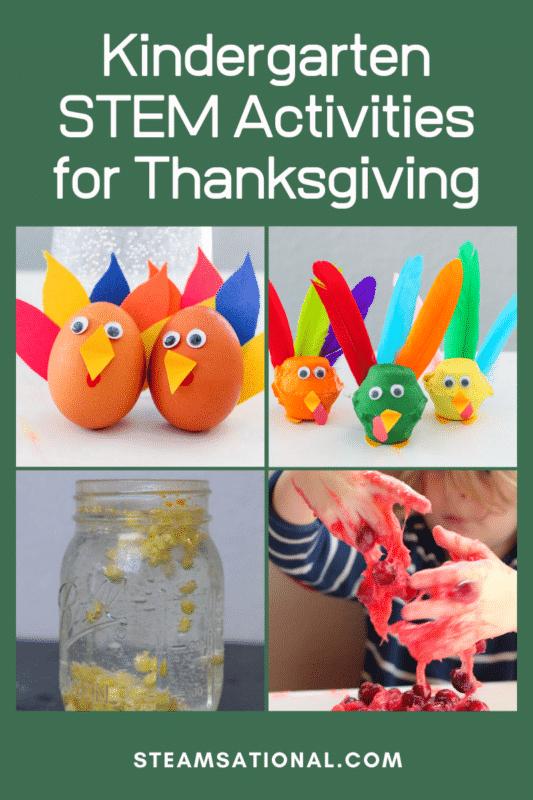 kindergarten stem activities for thanksgiving
