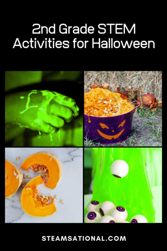 Halloween STEM activities for 2nd grade are a fun way for 2nd graders to explore science, technology, engineering, and math during Halloween!