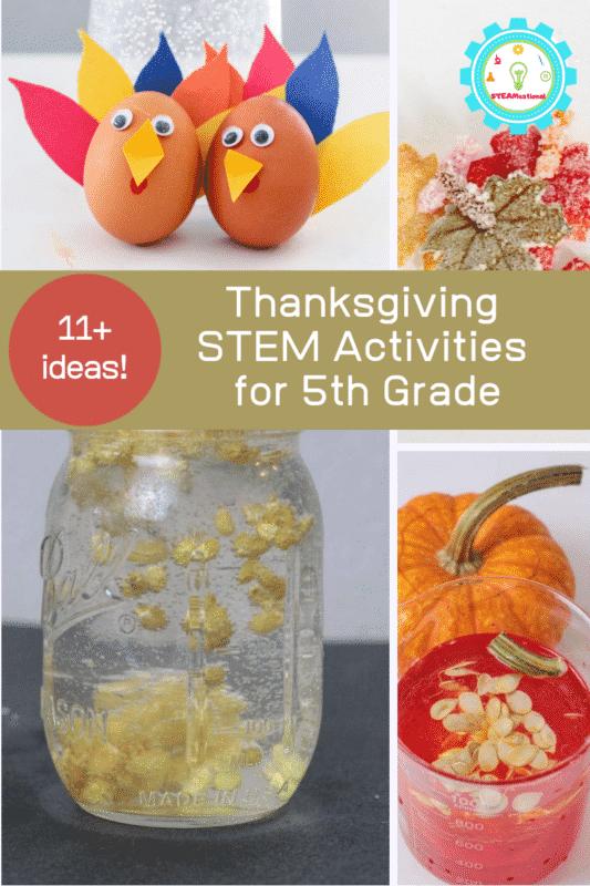 stem 5th grade thanksgiving activities