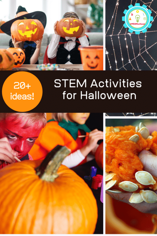 When it comes to science, nothing should be scary. Except at Halloween! These easy Halloween STEM activities for kids are so much fun to try during spooky season!