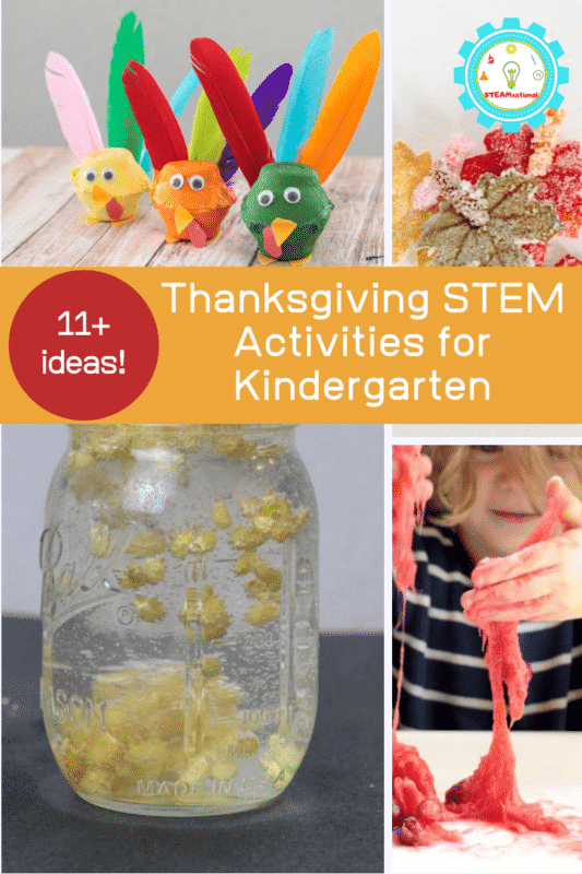 Kindergarten kids love to learn and explore, which makes Thanksgiving STEM activities for kindergarten so much fun!