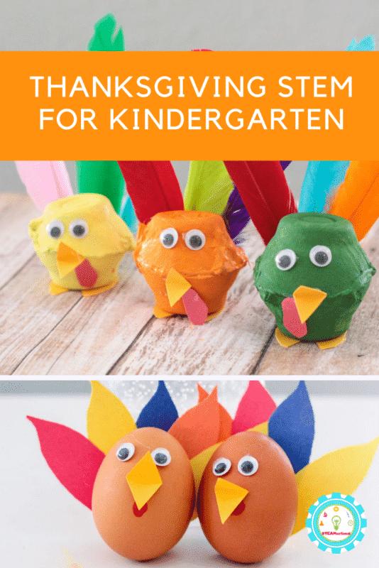 thanksgiving stem for kindergarten