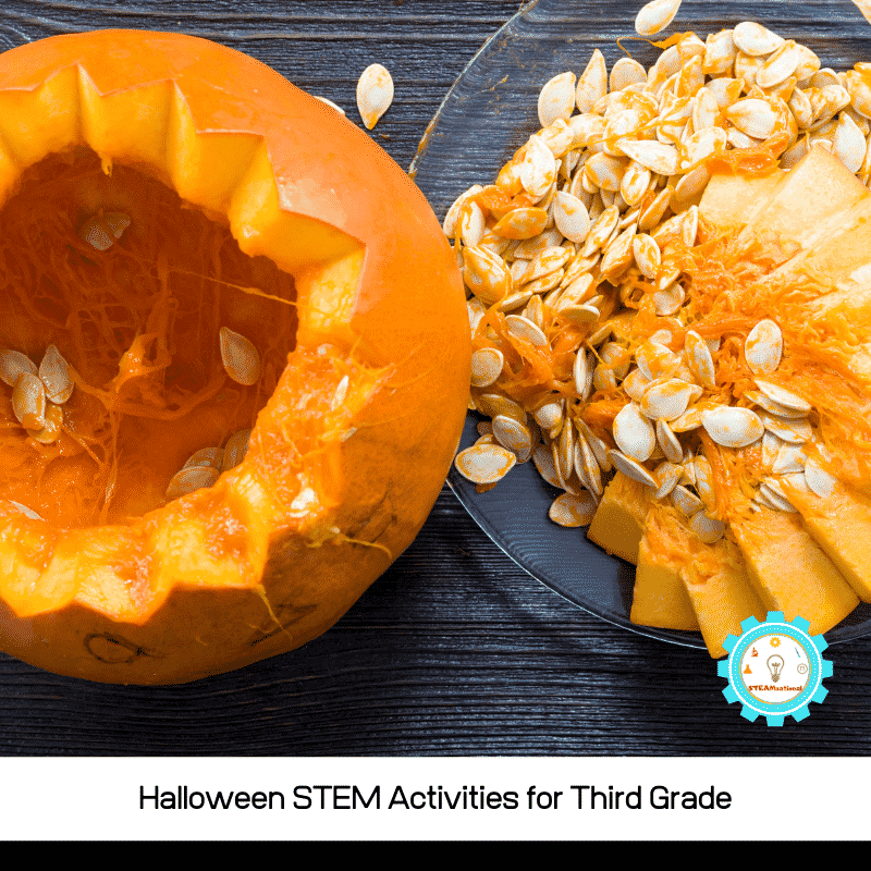 Halloween STEM activities for 3rd grade are a fun way for 3rd graders to explore science, technology, engineering, and math during Halloween!