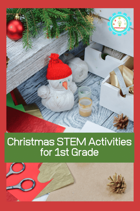 For first grade teachers and parents, it doen't get more fun than these low-prep Christmas STEM activities for first grade!