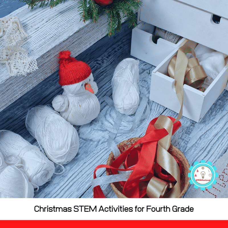 These Christmas STEM activities are perfect for 4th graders! Science, technology, engineering, and math with a holiday twist!