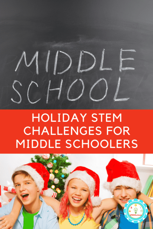 While trying out middle school STEM activities, don't forget to make it fun during December with Christmas STEM activities for middle school!