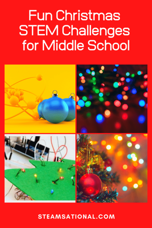 christmas stem challenges for middle school