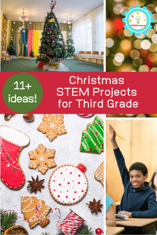Use these Christmas STEM activities for 3rd grade in the classroom this December or at home during the holiday break!