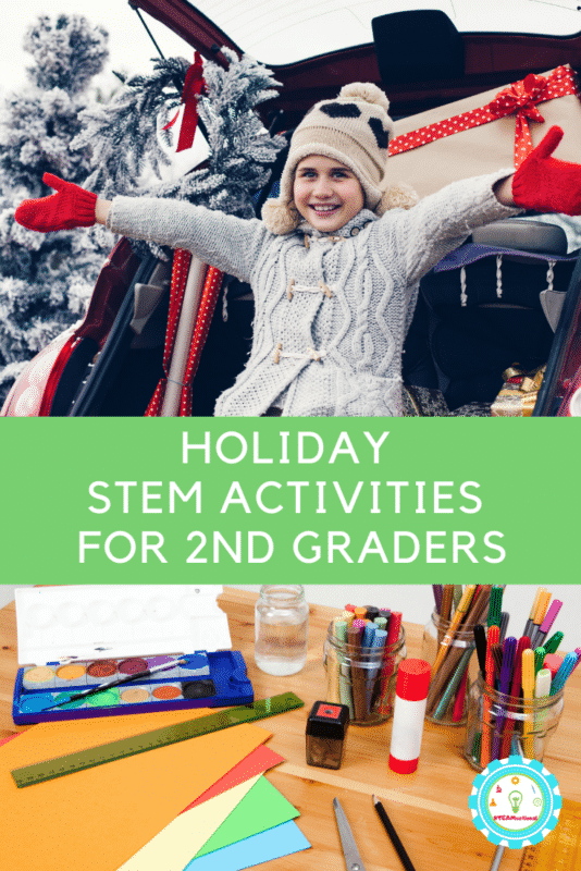 2nd graders will love these easy Christmas STEM activities for 2nd grade that are low-prep and tons of fun!