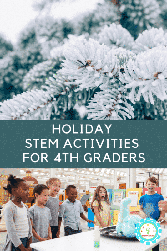 You'll find that these Christmas STEM activities for 4th grade are the perfect addition to your STEM lessons this December!