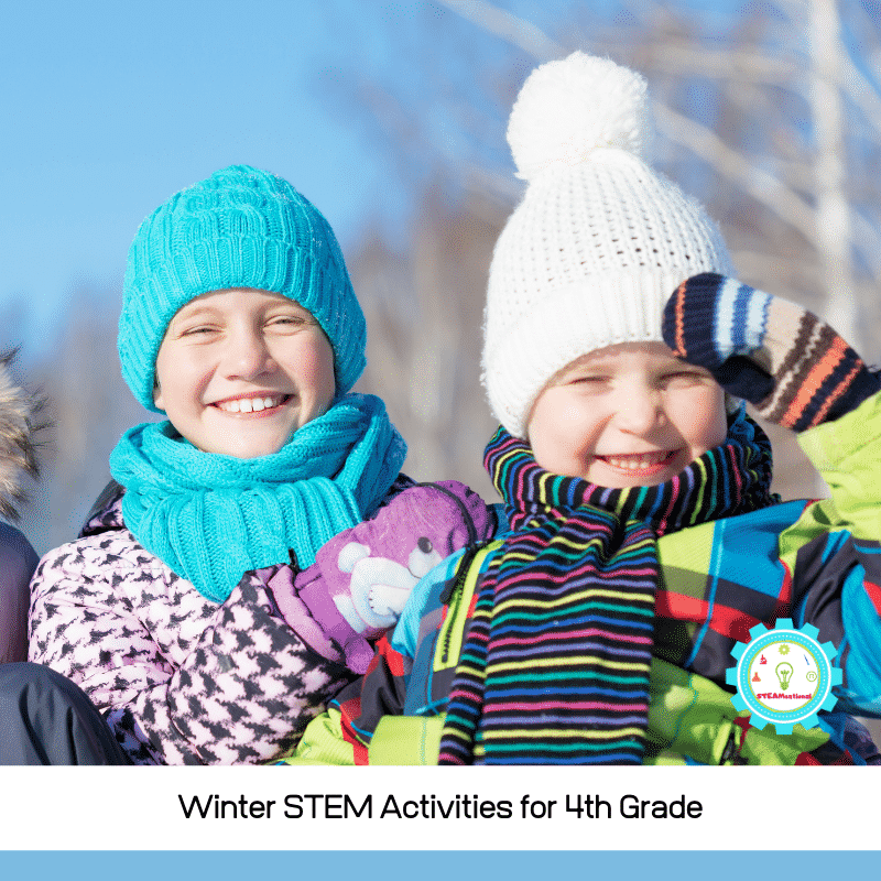 These winter STEM activities for 4th grade provide detailed STEM lesson plans for 4th grade and can help you provide relevant NGSS-aligned STEM activities with a fun winter twist!