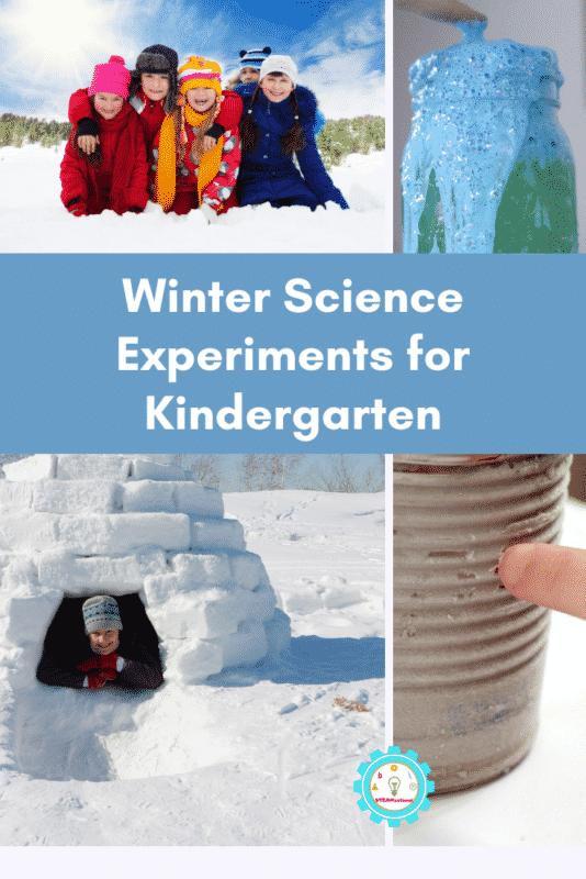 winter science experiments for kindergarten