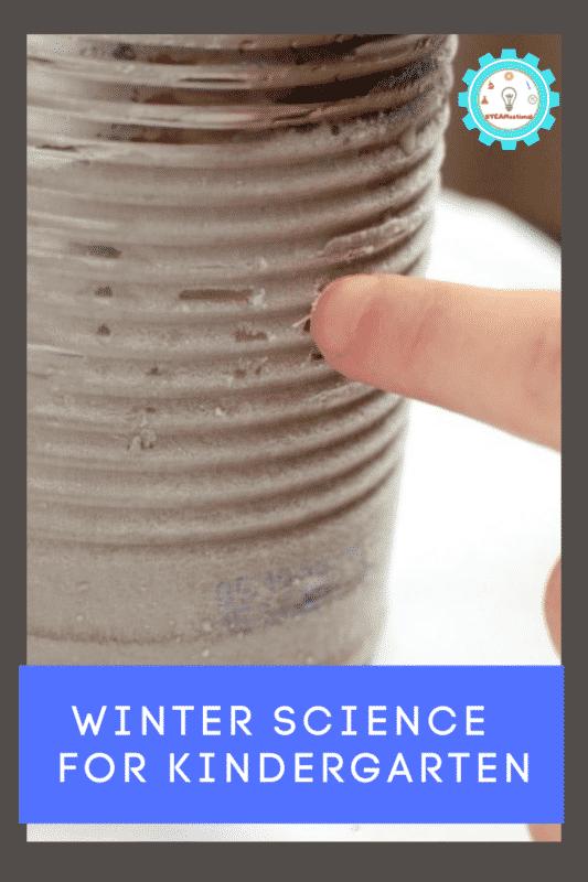 winter science for kindergarten
