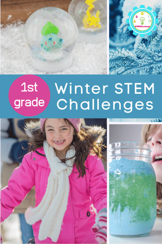 winter stem challenges for 1st grade