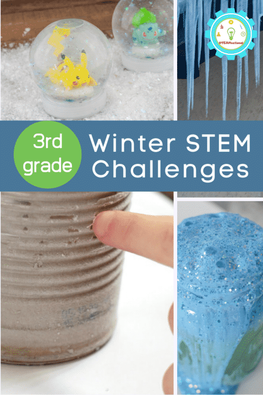Check out this list of 3rd grade winter STEM activities! If you are teaching third-grade students, leading an after-school STEM program, or just want to have fun STEM-themed activities to do at home, these easy winter STEM activities for kids are perfect for the winter months.