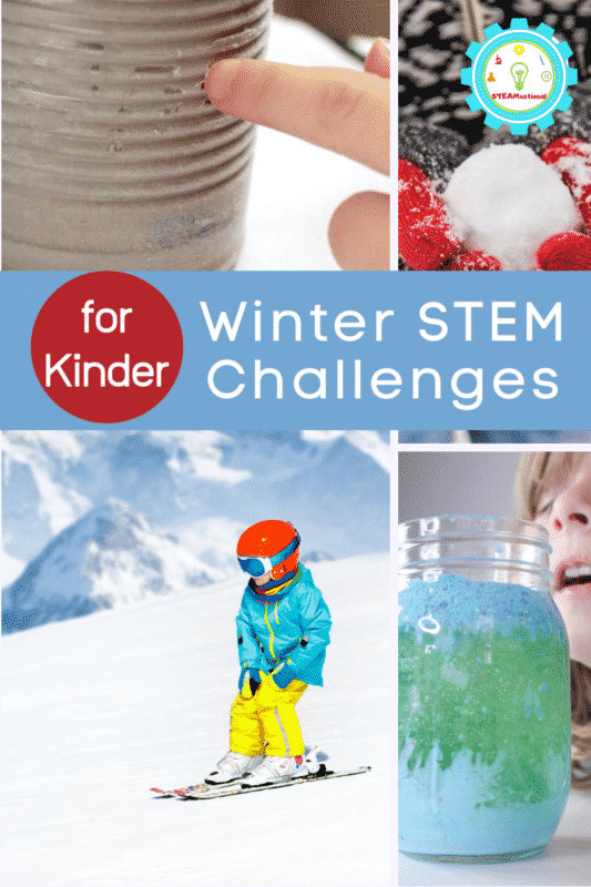 winter stem challenges for kindergarten