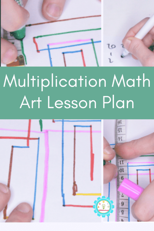 Multiplication Math Art Lesson Plan