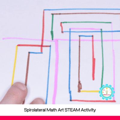 Spirolateral Math Art STEAM Activity