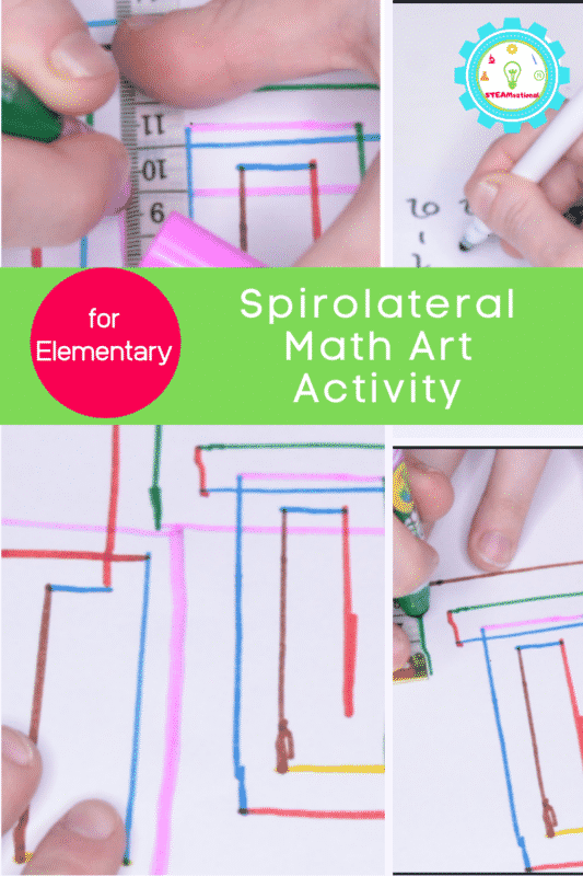 Spirolateral math art activity