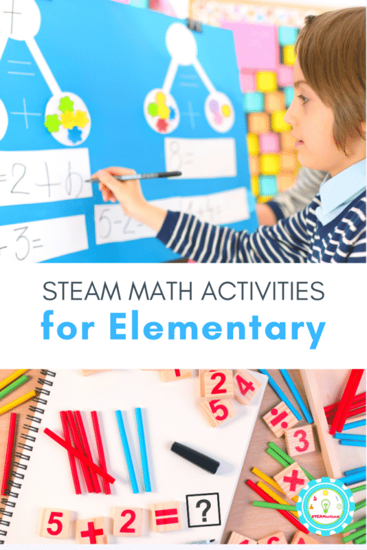 If you're looking for math activities for kids, you already know that standard math problems are boring, and sometimes hard for kids to get. That's where hands-on STEAM math activities are incredibly valuable!