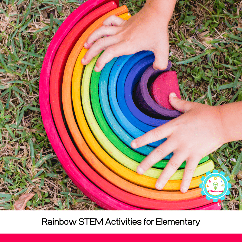 Rainbow STEM activities are the perfect way to bring a bit of color into the STEM classroom and a welcome addition to creative STEM activities. Try these rainbow STEM challenges with your classroom or kids at home this year!