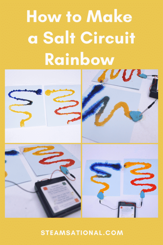 with this rainbow salt circuit engineering activity, kids will have a blast learning about how electricity works!