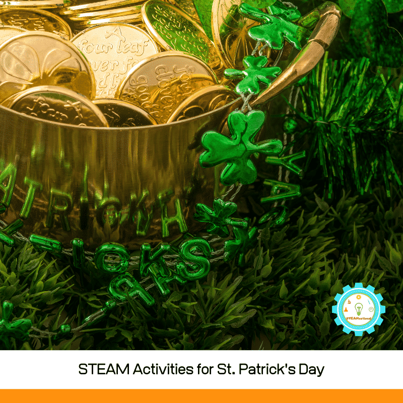 These St. Patrick's Day STEAM activities for elementary are the perfect thing to try in the elementary classroom during the St. Patrick's Day season!