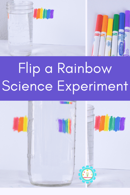 Flip a rainbow using science! The light refraction science experiment is a fun way to illustrate the science of light.