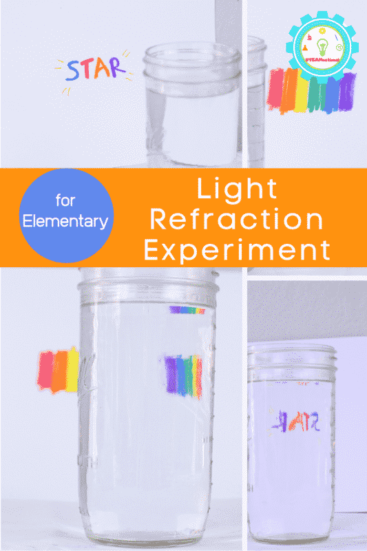 light refraction experiment for elementary