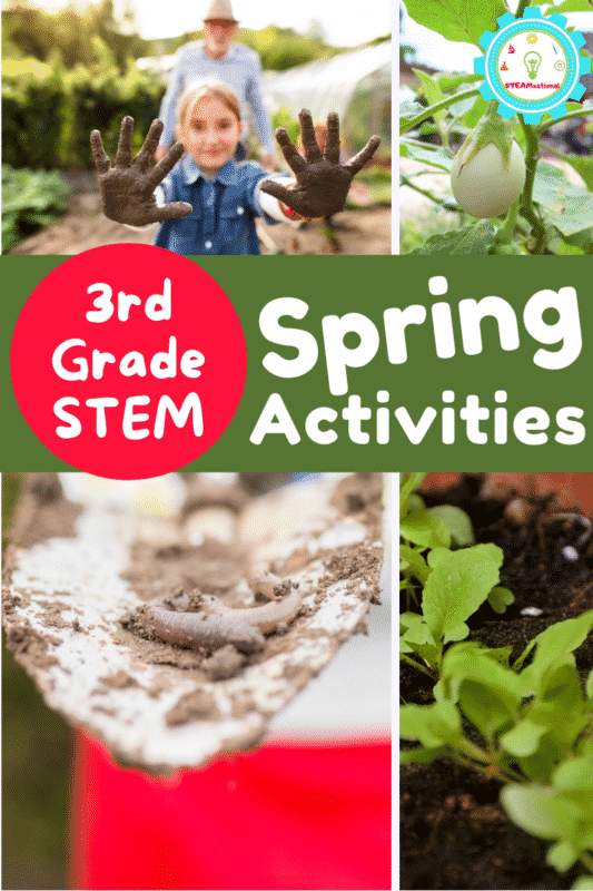 Over 20 3rd grade spring STEM activities to celebrate the return of rainbows, flowers, sunshine, and outdoor activities!