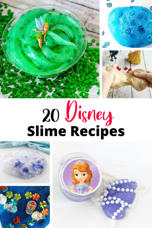 Get all the disney slime recipes that you need for birthday parties, play at home, and disney watching fun!