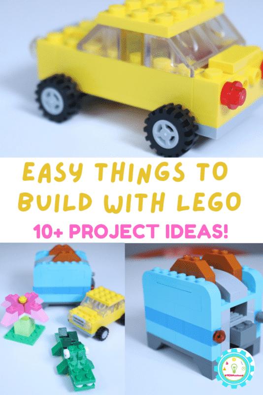 10+ easy LEGO project ideas using classic LEGO bricks! Easy kid-pleasing LEGO builds.