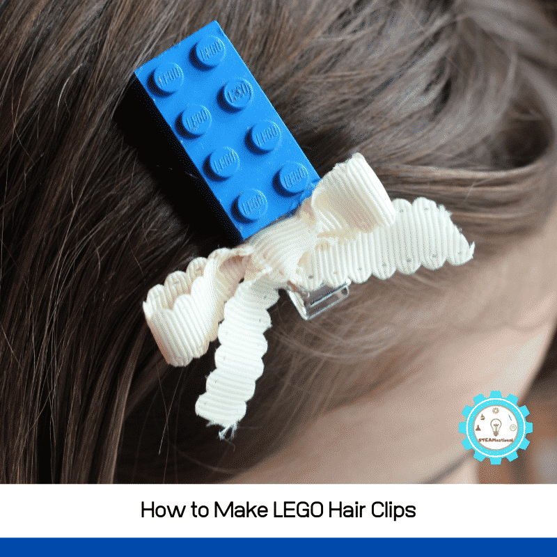 Learn how to make a LEGO hair accessory with this simple LEGO hair clip tutorial!