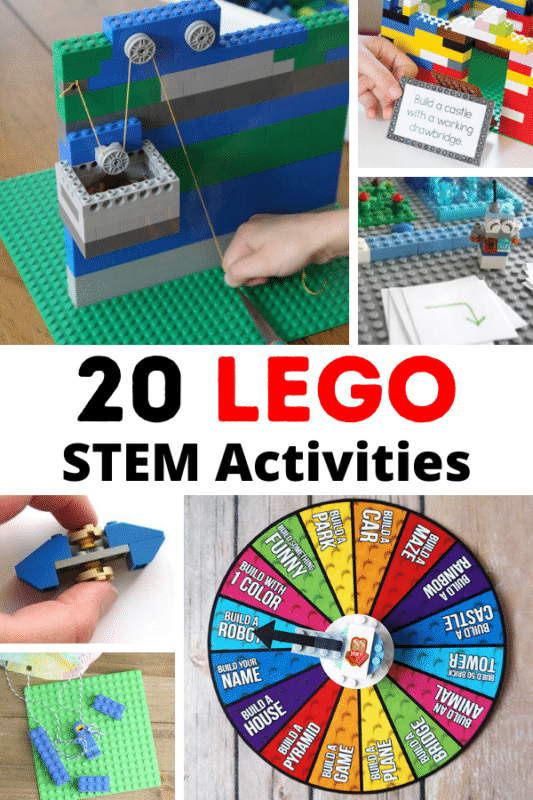 Kids will love these LEGO STEM activities! Explore science, technology, engineering, and math s using classic LEGO bricks!