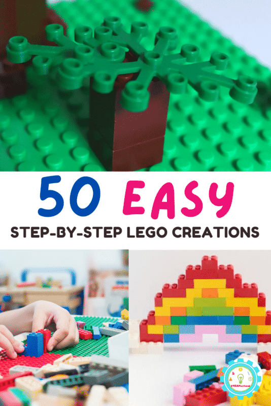 Find all the Step-By-Step LEGO Creations  you need to make over 50 easy LEGO projects using bricks you already own!