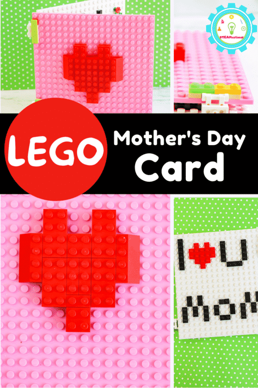 This year, my kids wanted to create a Mother's Day card for me built out of LEGO, which I didn't think was possible, but they figured out a way! This LEGO Mothers Day card is certainly one of the most creative ideas for Mother's day Cards that I've ever seen!