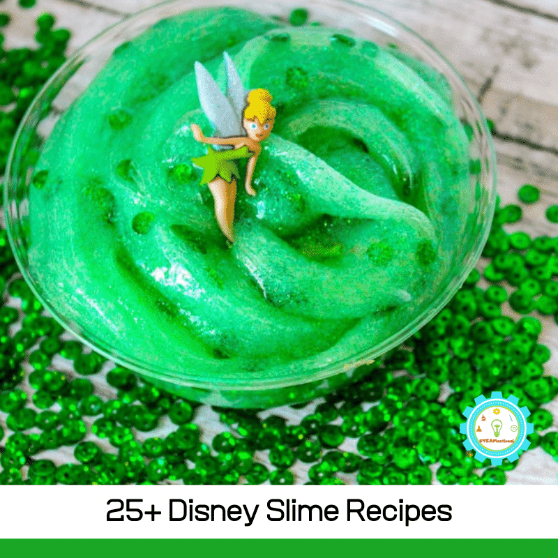 If you love all things Disney, you will love these slime recipes inspired by Disney characters, movies, and shows!