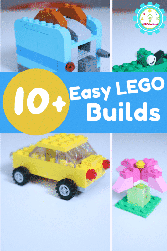 Easy things to build with LEGOs using classic bricks! Simple LEGO builds that are easy enough for kids to make. 10+ LEGO project ideas!