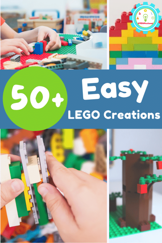 Easy LEGO creations for even the most novice LEGO builder! Easy LEGO project ideas that you can make with LEGO bricks you already own.