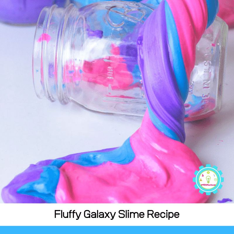 The best fluffy galaxy slime for slime lovers. 3 ingredients and easy enough for kids to make alone! Super satisfying and stretchy!