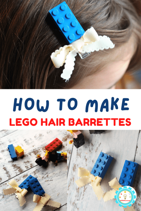 When it comes to fixing hair, my kids actually hate it. They aren't big on bows or things in their hair. But they do like LEGO. So when my 8-year-old saw these LEGO barrettes, she was excited to try and make them! Learn how to make LEGO barrettes here!